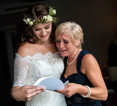 Bride and her Mother Reading a Letter