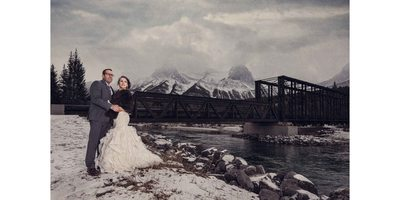 Canmore Winter Wedding Album Epic Photo Bride & Groom