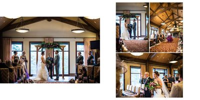 Canmore Winter Wedding Album Ceremony Time