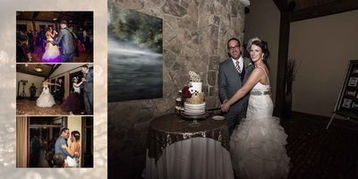 Canmore Winter Wedding Album Wedding Cake Cut
