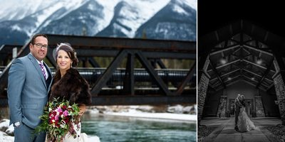 Canmore Winter Wedding Album Night Portraits