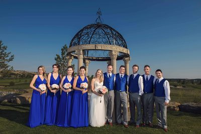 Photo of the Bridal Party Near Gazebo