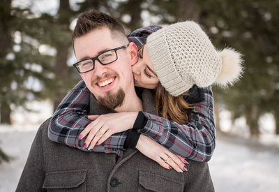 Winter Engagement Session in the Mountains