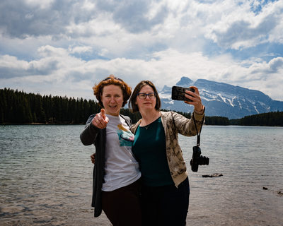 A Selfie at Two Jack Lake