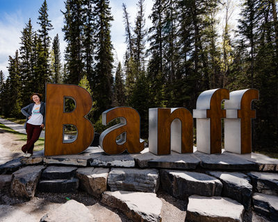 Entrance Sign to Town Of Banff