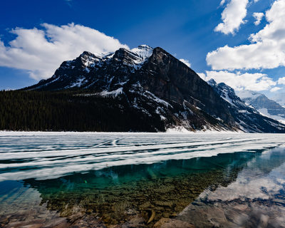 Mountain View at Lake Louise in Spring