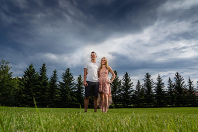 A Formal Portrait Taken During Engagement Session