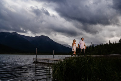 Engagement Photo at Vermilion Lakes