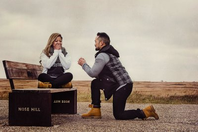 Proposal at Nose Hill Calgary