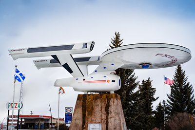 A Monument of Star Trek Starship Enterprise in Vulcan