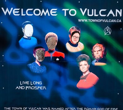 Welcome to Vulcan Star Trek Faces Wall