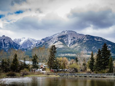 Spring Canmore Landscape