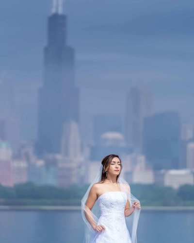 Bridal Portrait at the Lake