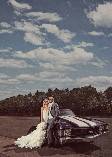 Wedding Photos with a Classic Car