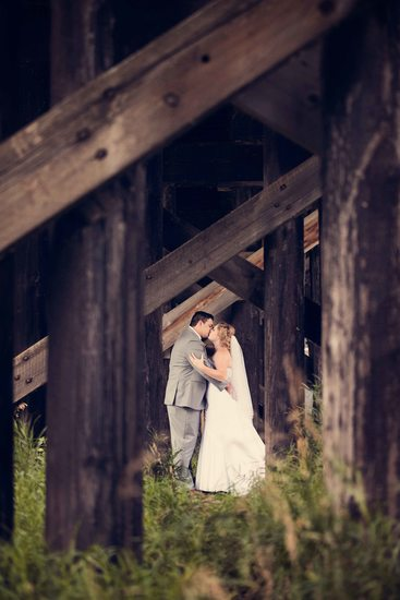 Wedding Photos Under the Bridge