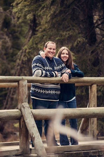 Spring Engagement Photos at Fenland Trailhead
