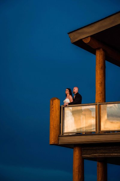 Sunset Wedding Portrait at the Balcony