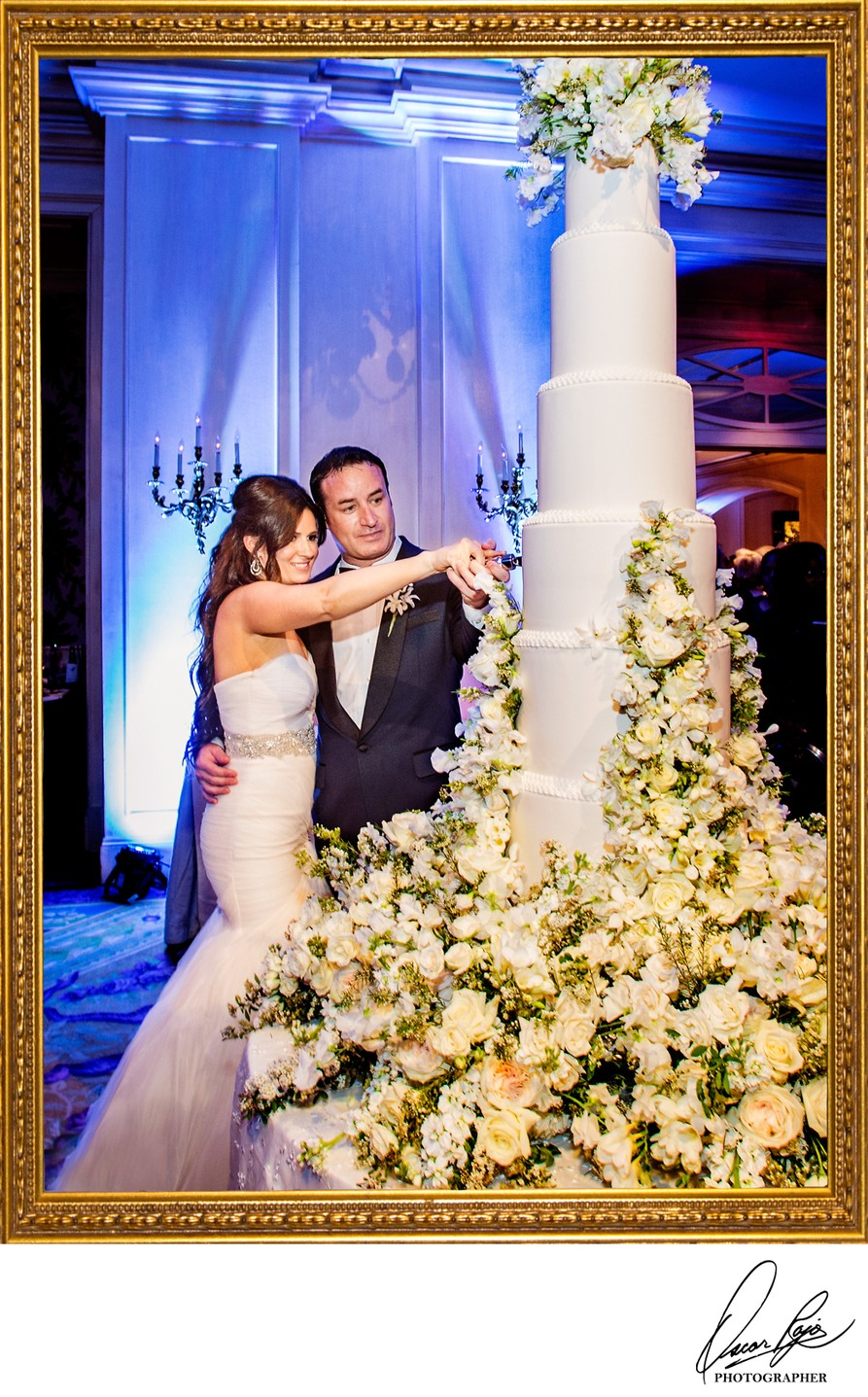 Ritz Carlton weddings, NOLA, wedding cake, bride, groom