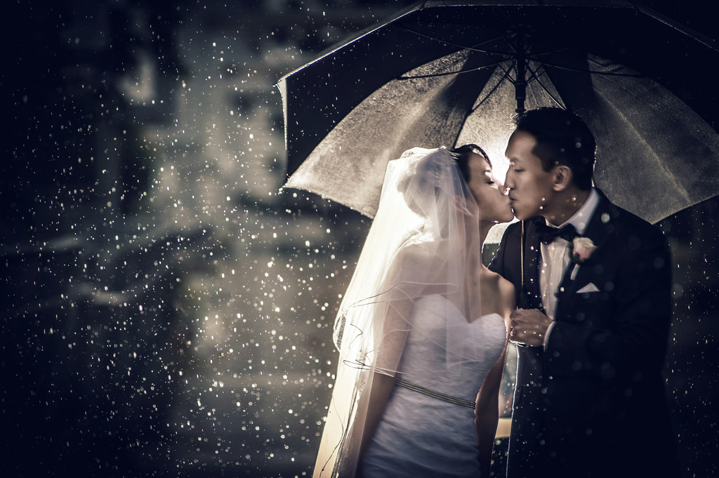 Best Rainy Wedding Photos