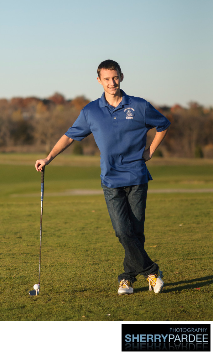 golfing - senior photos