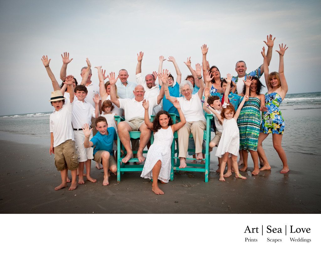 Family Reunion Photographer Topsail Island NC