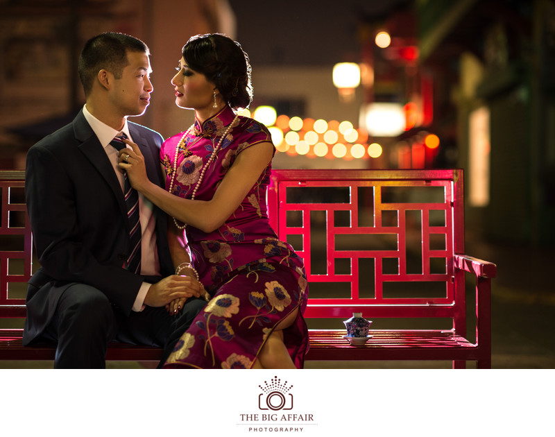 China Town Engagement Photography
