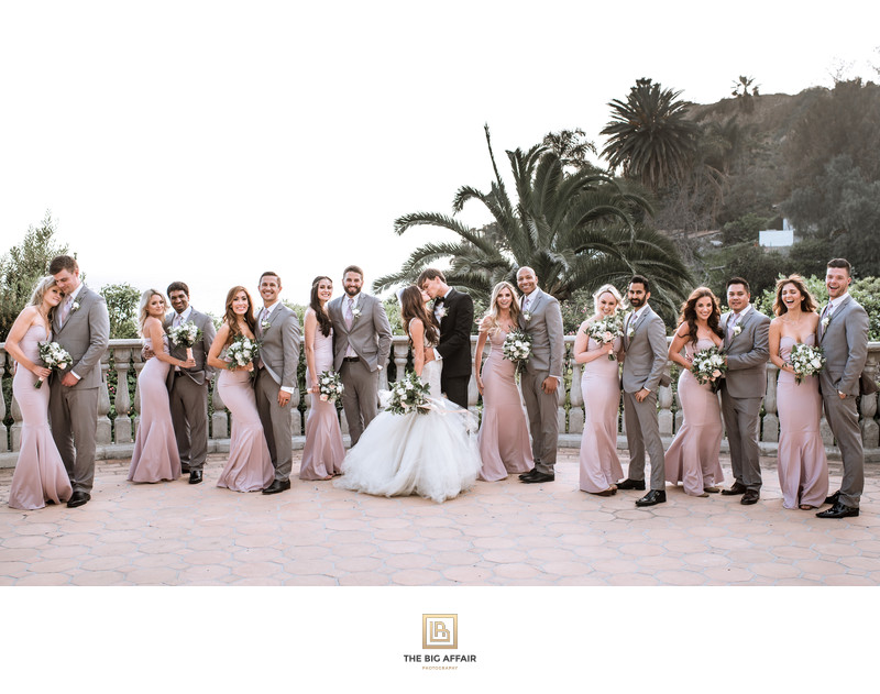 Bridal party at the Bel Air Bay Club Patio