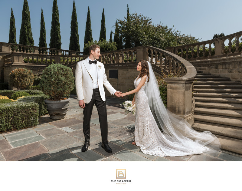 Greystone Mansion Wedding Photography - Bride And Groom