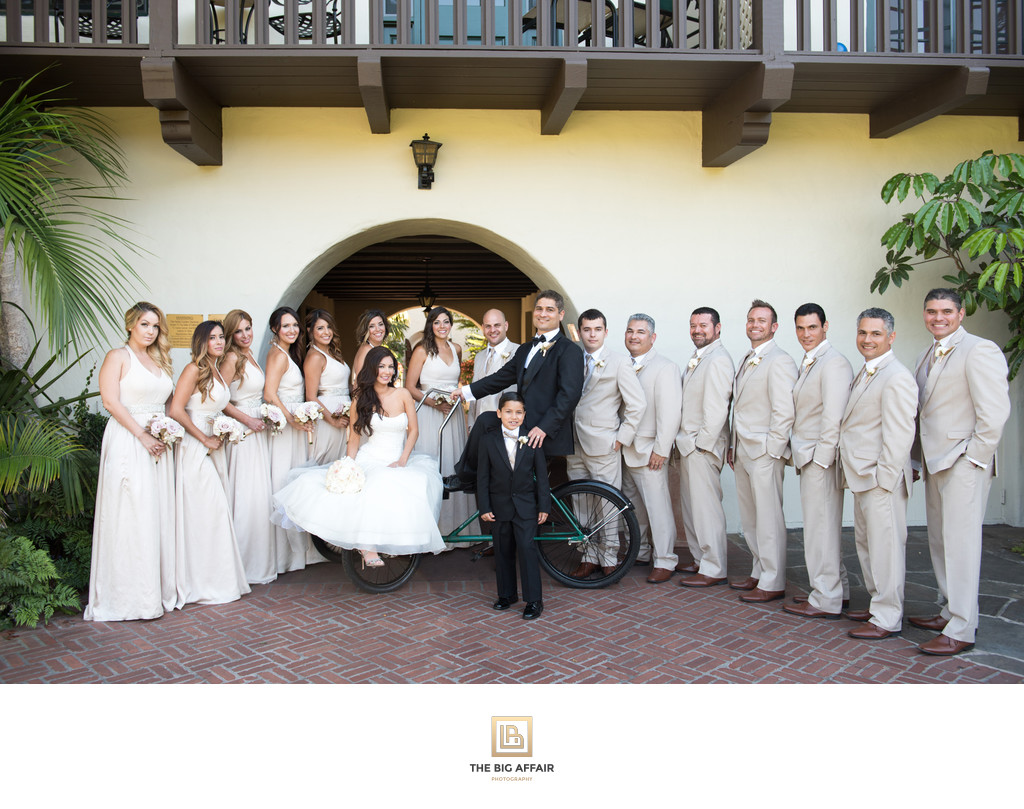 A stunning bridal party at Four Seasons The Biltmore of Santa Barbara