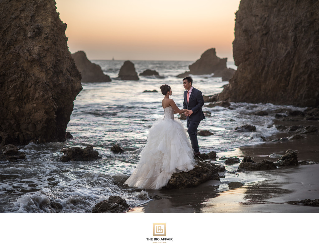 malibu wedding el matador beach