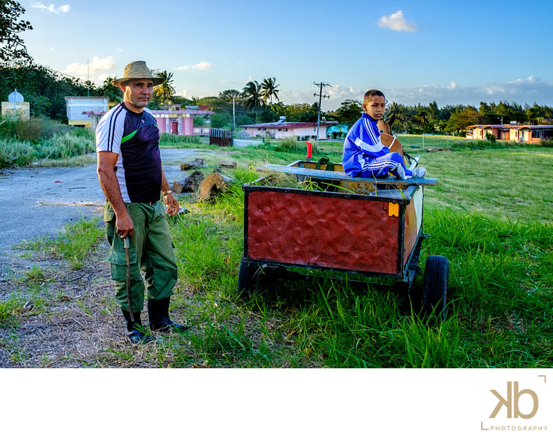 A Cuban Farmer and His Son