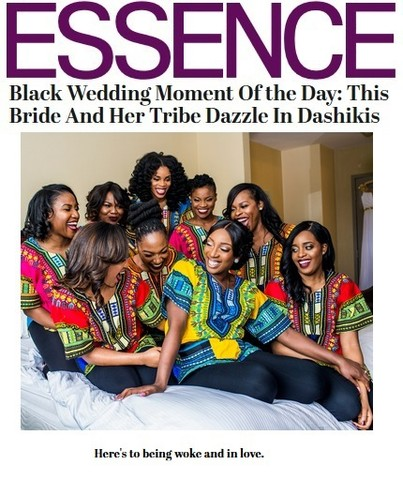 Bridesmaids in Dashikis Featured in Essence Magazine