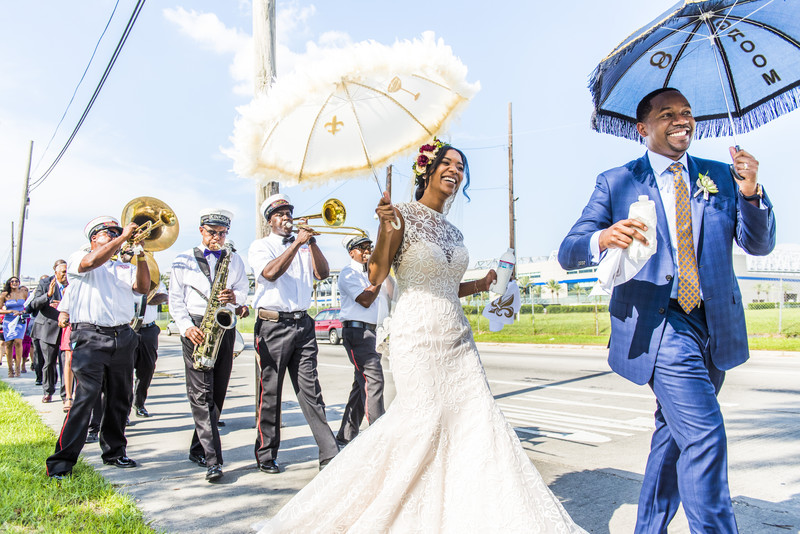 Race and Religious New Orleans Wedding Photographer first line