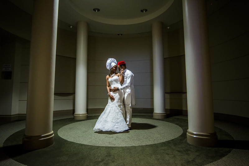 Carlos Center Atlanta Wedding Photographer Bride and Groom
