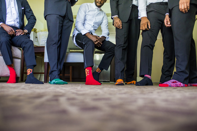 Temple Atlanta Wedding Photographer Groomsmen Socks