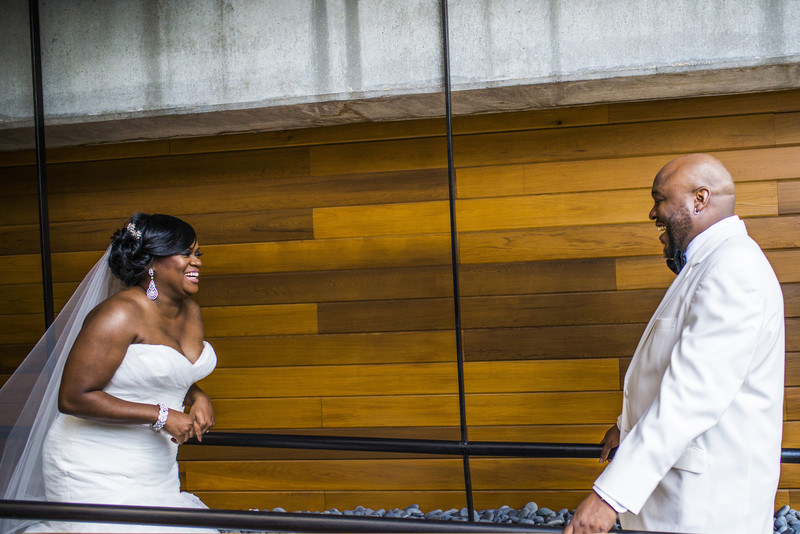 Glenn Hotel Atlanta Wedding Photographer First Look