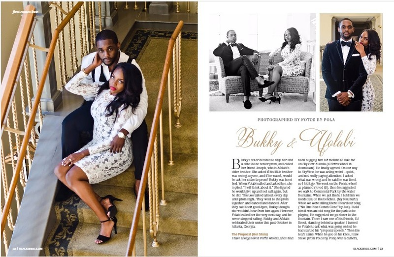 Fotos by Fola Couple Featured in Black Bride Magazine