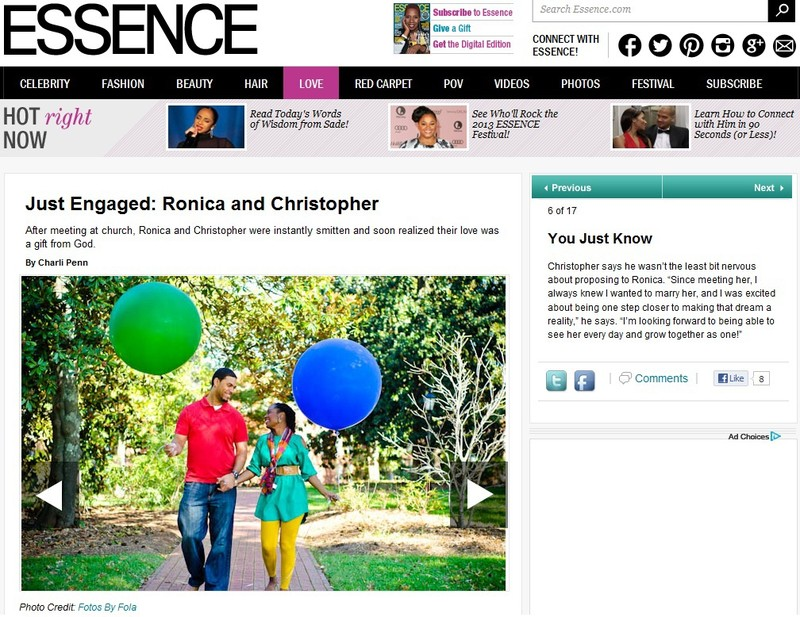 Fotos by Fola Charlotte NC Engagement Session Featured on Essence