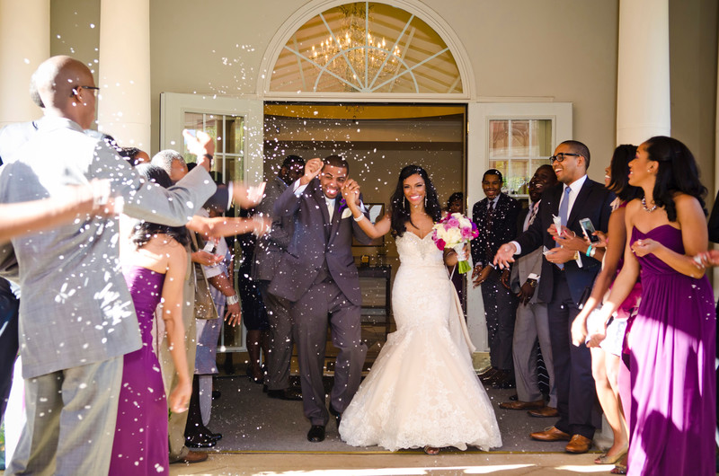 Ashton Gardens Atlanta Wedding Photographer grand exit