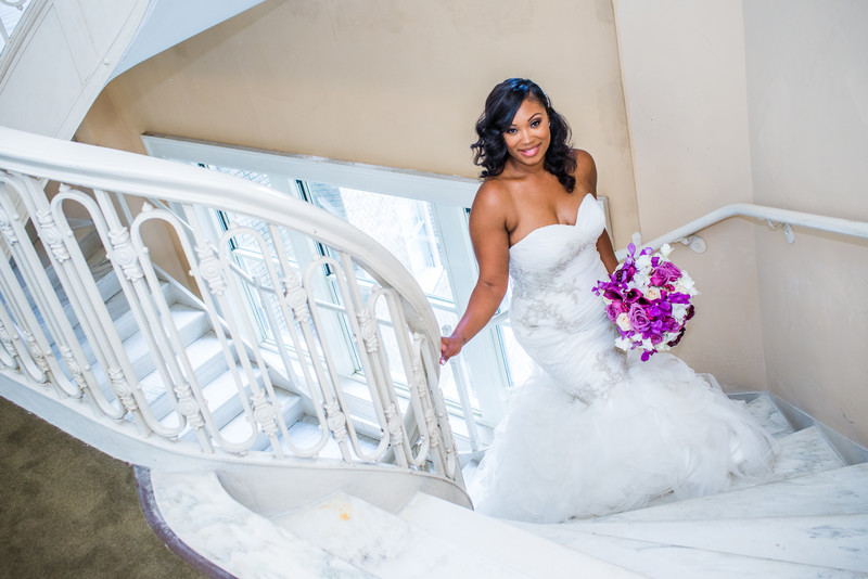 Atlanta Wedding Photographer Georgian Terrace bride