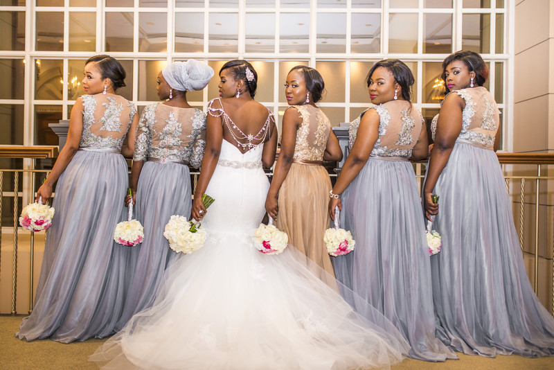 Temple Atlanta Wedding Photographer Bride with Bridesmaids