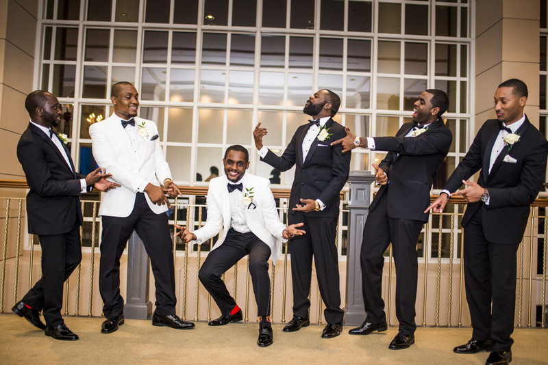 Temple Atlanta Wedding Photographer Groom and Groomsmen