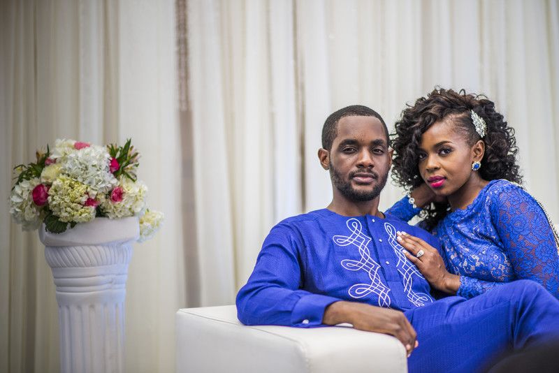 Temple Atlanta Wedding Photographer couple in blue