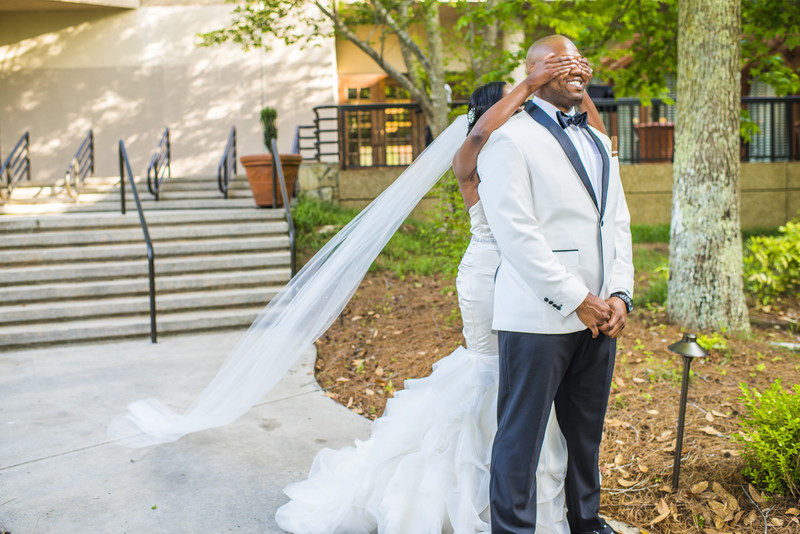 Hilton Hotel peachtree City Wedding Photographer 1st look