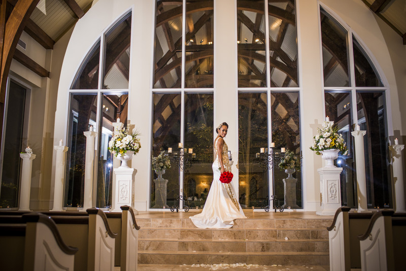Ashton Gardens Wedding Photographer Bride in Chapel