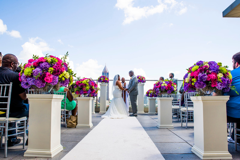 Ventanas Atlanta Wedding Photographer Rooftop wedding Vows
