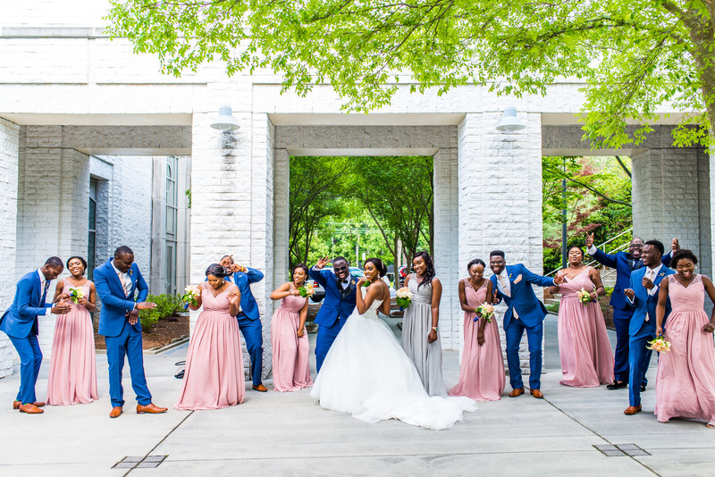 Ballroom Carlos Center Wedding Photographer bridal party