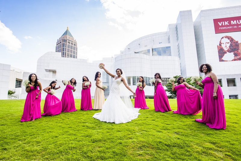 High Museum of Art Atlanta Wedding Photographer skyline