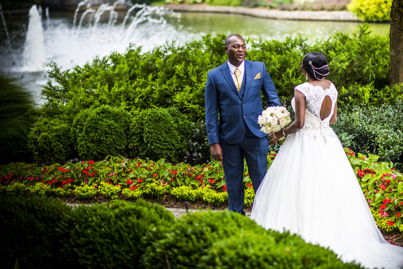 Westin Perimeter Atlanta Wedding Photographer First look