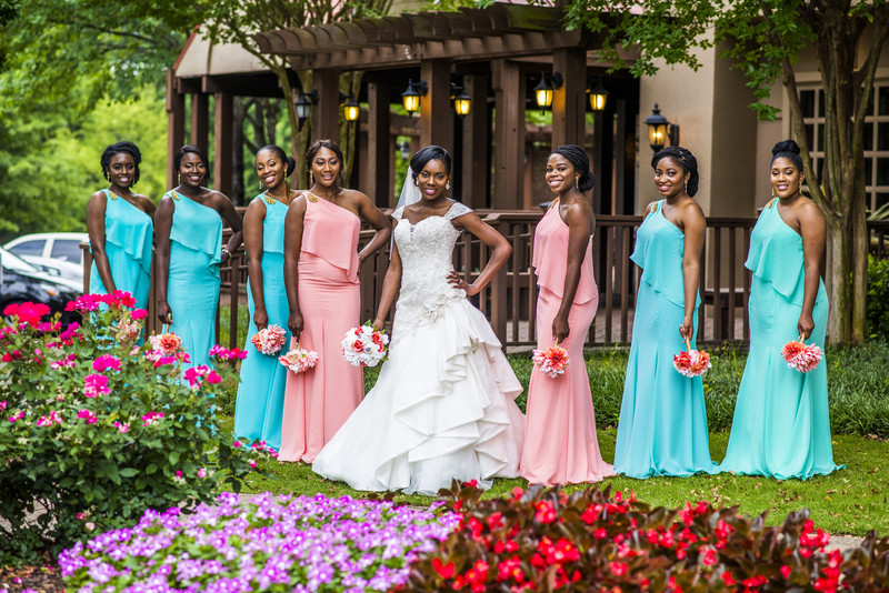 Sonesta Gwinnett Place Atlanta Hotel Wedding bridesmaids